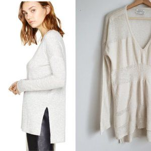 Aritzia Babaton Erin Sweater Cream Stripe Medium